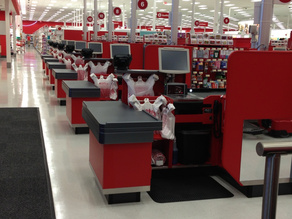 Inside the target canada store at devonshire mall in windsor ont on
