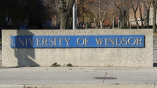 University of Windsor sign