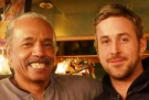 Larry D'Mongo (left) gets his picture taken with celebrity Ryan Gosling in Detroit, Mich. (Courtesy of Larry D'Mongo)