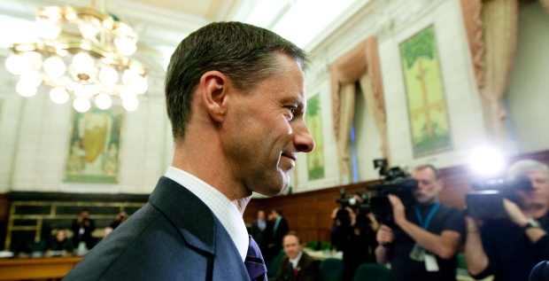 Nigel Wright, the former chief of staff for Prime Minister Stephen Harper, appears as a witness at the Standing Committee on Access to Information, Privacy and Ethics on Parliament Hill in Ottawa on Tuesday Nov. 2, 2010. THE CANADIAN PRESS/Sean Kilpatrick
