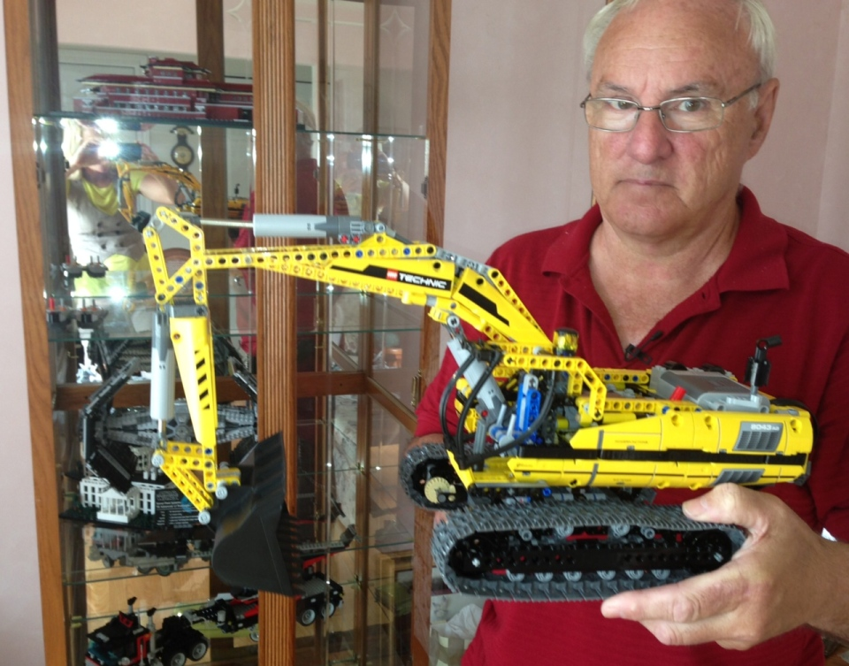 "Self-proclaimed ""Lego fanatic"" John St-Onge shows some of his work in Windsor, Ont., on Tuesday, July 9, 2013. (Sacha Long / CTV Windsor)"