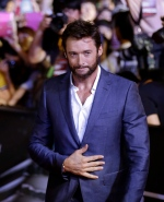 Actor Hugh Jackman arrives for the premiere event of his new film 'The Wolverine' in Seoul, South Korea, Monday, July 15, 2013. (AP / Lee Jin-man)