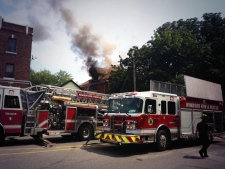 Howard Ave house fire
