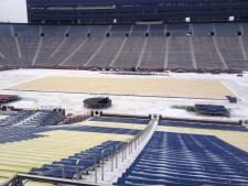 Winter Classic ice at Michigan Stadium