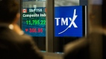 The numbers on the TSX board are shown in this August, 2011 file photo. (Aaron Vincent Elkaim / THE CANADIAN PRESS)