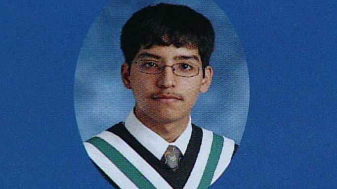 Stephen Solis-Reyes is seen in this photo from the 2011/2012 Mother Teresa Catholic Secondary School yearbook.