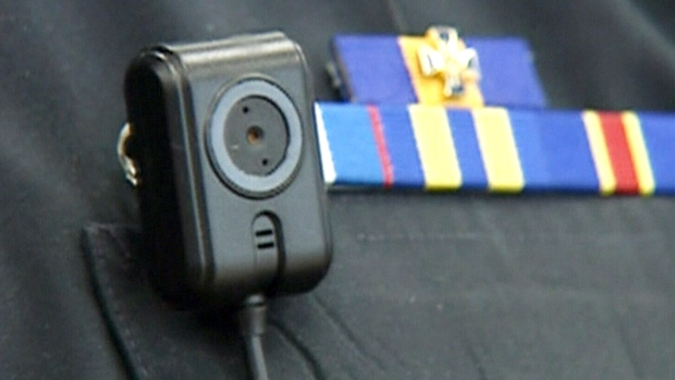 Body cameras on police officers