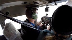 At the helm of a plane over Windsor and Essex County with The Guy That's Done Everything. (Chris Campbell / CTV Windsor)