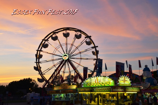 Families enjoy rides, midway games, a parade, dog show, wrestling and fireworks at the Essex Fun Fest in Essex, Ont. (Courtesy Laurie Beaton)