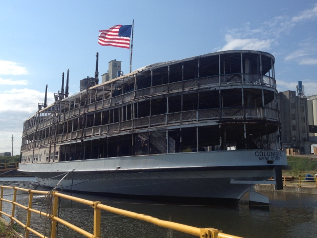 The SS Columbia, a passenger ferry between Detroit to Boblo Island, is being restored in Toledo, Ohio. (Michelle Maluske / CTV Windsor)