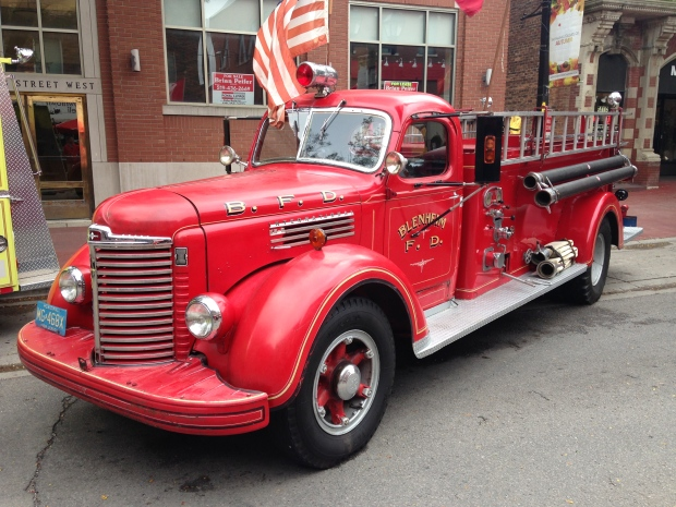 Many classic fire trucks were on display at FireFest in Chatham, Ont., on Saturday, Sept. 21, 2015.  (Cris Campbell / CTV Windsor)