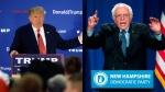 Republican Candidate Donald Trump (AP/Steven Senne) and Democrat Candidate Bernie Sanders (AP/Matt Rourke) are seen in this composite image.