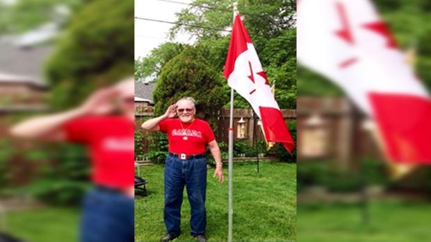 Windsor veteran Peter Mullen had three flags stolen from his property.