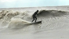 Winter surfing on Great Lakes
