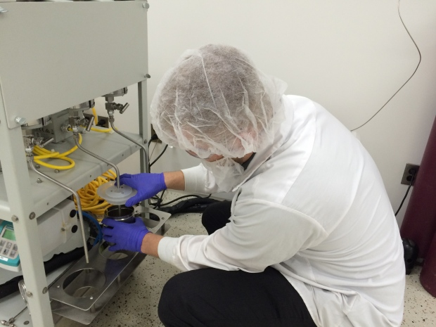 Leamington researchers are developing medical marijuana oil, a three hour process, to go from dried cannabis to oil at the Aphria facility in Leamington, Ont., on Tuesday, March 15, 2015. (Michelle Maluske / CTV Windsor)