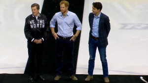Prince Harry, Mayor Tory, PM Trudeau attend game