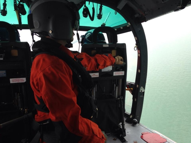 CTV's Chris Campbell joined the U.S. Coast Guard in the air as they trained with their Canadian counterparts on the water on May 17, 2016.