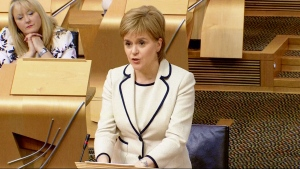 Nicola Sturgeon addresses Scottish Parliament