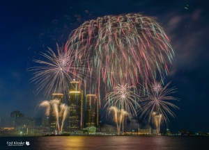 The 58th annual Ford Fireworks over the Detroit River in Windsor, Ont., on Monday, June 27, 2016. (Courtesy Ted Kloske)