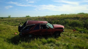 One person has died after a rollover on Highway 40 north of Dufferin Avenue in Wallaceburg, Ont., on Thursday, June 30, 2016. (Courtesy OPP)