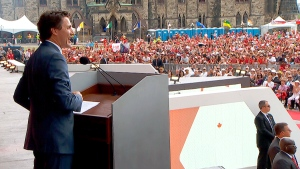 PM, tens of thousands celebrate Canada Day