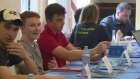 Students take part in a program aimed at introducing them to business world in Windsor, Ont, on Thursday, July 21, 2016. (Melissa Nakhavoly / CTV Windsor)
