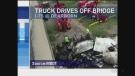 A truck drove off a bridge in Michigan on Sunday, July 24th, 2016.