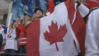 Canadian fans cheer on the Junior National team. (File Photo)