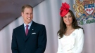 The Duke and Duchess of Cambridge participate in Canada Day celebrations on Parliament Hill in Ottawa on Friday July 1, 2011. (THE CANADIAN PRESS/Adrian Wyld)