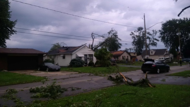 Tornado Touches Down in Windsor