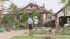 Residents survey the damage on Thursday, August 25, 2016, a day after two tornadoes hit the Windsor region. (CTV Windsor)