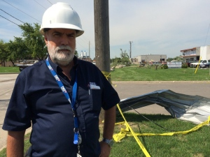 Jim Parker says they've been working almost around the clock since Wed night securing buildings in Windsor, Ont., on Friday, Aug. 26, 2016. (Michelle Maluske / CTV Windsor)
