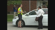 There were some tense moments as parking enforcement officers took a zero tolerance approach around Massey High School on Wednesday, September 21, 2016. (Melissa Nakhavoly / CTV Windsor)