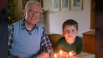 Quinn pictured with his grandpa who passed away in 2013.