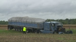 One person died after a head-on crash between a tractor trailer and a vehicle on County Road 11 in Harrow, Ont. on Monday, September 26, 2016.