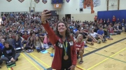 Hero's welcome for local Olympians