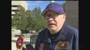Kevin Robson stands at Windsor cenotaph for 12 hours.