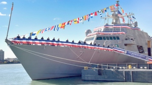 The USS Detroit is coming to Windsor on Monday. The ship was commissioned on Saturday, Oct. 23, 2016. (Photo courtesy of Lockheed Martin)
