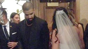Rapper Drake attends a Windsor wedding on Saturday, October 22, 2016. (Twitter / @KelseyBoiss)
