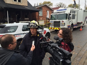 Ontario Fire Marshal investigator says the fatal fire on Rankin Avenue started on main level of home and is not suspicious in Windsor, Ont., on Thursday, Oct. 27, 2016. (Sacha Long / CTV Windsor)