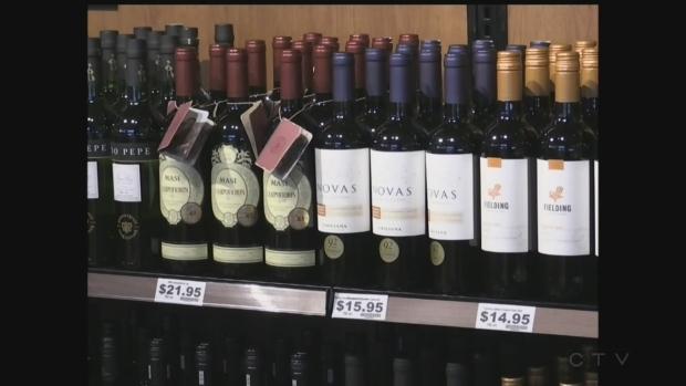 Wine bottles land on Ontario grocery store shelves