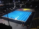 A look at the temporary 25-metre pool in the main bowl of the WFCU Centre in Windsor, Ont., on Friday, Dec. 2, 2016. (Rich Garton / CTV Windsor)