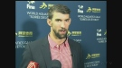 Michael Phelps was in Windsor Ont. on Sunday, Dec. 4, 2016, to help kick off the FINA Aquatics Gala. (CTV Windsor)