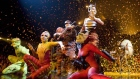 Performers take part in the closing act during a Cirque du Soleil OVO pre-opening show for family, friends and members of the media Wednesday, July 29, 2009 in Quebec City. A Cirque du soleil performer was injured after a fall on Friday. (Jacques Boissinot / THE CANADIAN PRESS)